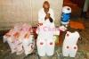 Seorang pedagang air zam-zam di sudut-sudut kota Makkah Al Mukaramah Arab Saudi