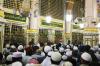 Makam Nabi Muhammad Shalallahu 'Alaihi Wa Sallam di Masjid Nabawi Kota Madinah Arab Saudi